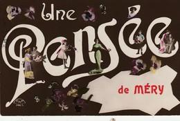Méry-Tilff, ( Esneux ) , Une Pensée De Méry , ( Oblitération Liège 1914 ) - Esneux