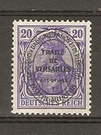 Allemagne, Empire, Territoires Soumis à PLEBISCITE, ALLENSTEIN, Traité De Versailles - 1920 - MH -YT 19 - Allemagne
