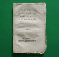D-FR Révolution 1789 Dire De L'abbé SIEYES, Sur La Question Du Veto Royal - Documents Historiques