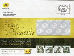 """Entier Postal Spécial Pour Catalogue PHIL@POSTE - Repiquage Par Philaposte Timbre """" Trésors De La Philatélie """" 169932 - Prêts-à-poster: TSC Et Repiquages Semi-officiels"""