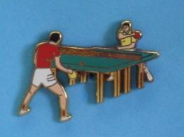 1 PIN'S  //  ** TENNIS DE TABLE / PING PONG ** . (Arthus Bertrand Paris) - Table Tennis
