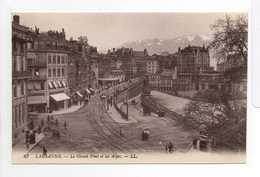 - CPA LAUSANNE (Suisse) - Le Grand Pont Et Les Alpes - Ediitons Lévy N° 63 - - VD Vaud