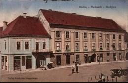 ! Alte Ansichtskarte Medias, Siebenbürgen, Rumänien, Geschäft + Verlag Guggenberger, Postcardshop - Rumania