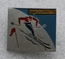 Ancienne Broche SKI Barcelonnette . Fab: Augis Lyon - Winter Sports