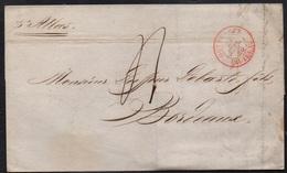 """PORT LOUIS - ILE MAURICE / 1840 LAC POUR BORDEAUX PAR """"ATLAS"""" (ref 3170) - Posta Marittima"""