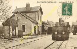 21.  FONTAINE FRANCAISE .  La Gare  S. F. C. O. - Francia