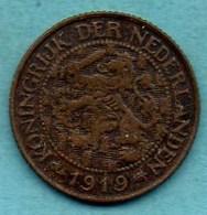 (r65) PAYS BAS / NETHERLANDS  1 Cent 1919 - [ 3] 1815-… : Kingdom Of The Netherlands