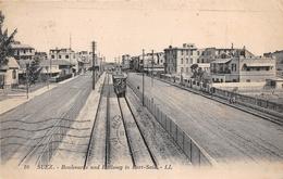 ¤¤   -  EGYPTE  -  SUEZ   -  Boulevard And Railway To Port-Saïd  -  Train , Chemin De Fer    -  ¤¤ - Suez