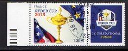 France 2018.Golf Ryder Cup 2018.Cachet Rond Gomme D'Origine. - France