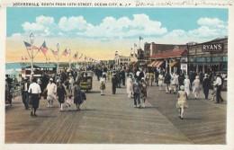 CPA - Atlantic City - Boardwalk - South Fro 10Th Street - Océan City - Atlantic City