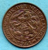 (r65) PAYS BAS / NETHERLANDS  1 Cent 1941 - [ 3] 1815-… : Kingdom Of The Netherlands