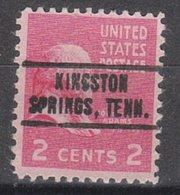 USA Precancel Vorausentwertung Preo, Locals Tennessee, Kingston Springs 736 - Vorausentwertungen