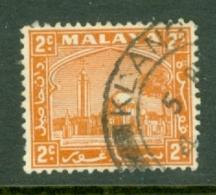 Malaya - Selangor: 1935/41   Mosque   SG70a    2c   [Perf: 14]    Used - Selangor