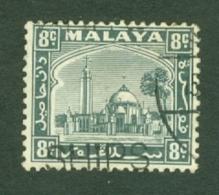Malaya - Selangor: 1935/41   Mosque   SG75    8c     Used - Selangor