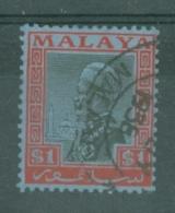 Malaya - Selangor: 1935/41   Sultan Suleiman   SG83    $1     Used - Selangor