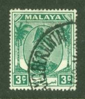 Malaya - Selangor: 1949/55   Sultan Hisamud-din Alam Shah   SG92    3c    Used - Selangor
