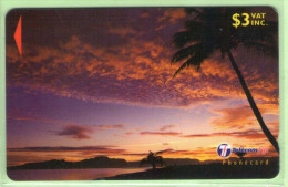 """Fiji - 2000 Dawn & Dusk - $3 Clouds - """"30FKB"""" - FIJ-161 - VFU - Fidschi"""