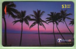 """Fiji - 2000 Dawn & Dusk - $3 Palms - """"30FJB"""" - FIJ-162 - VFU - Fiji"""