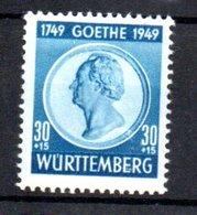 Wurttemberg  / N 48 / 30 + 15 Pf Bleu / NEUF Avec Trace De Charnière - Wurtemberg