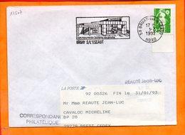 NORD, Bruay Sur L'Escaut, Flamme SCOTEM N° 12507, Nouveau Bureau De Poste - Oblitérations Mécaniques (flammes)