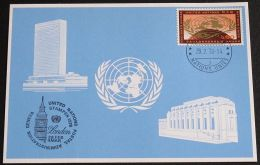 UNO GENF 1978 Mi-Nr. 61 Blaue Karte - Blue Card Mit Erinnerungsstempel LONDON - Briefe U. Dokumente