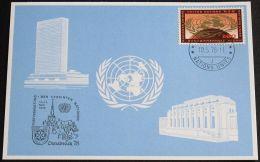 UNO GENF 1978 Mi-Nr. 64 Blaue Karte - Blue Card Mit Erinnerungsstempel OSNABRÜCK - Briefe U. Dokumente