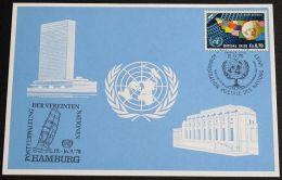 UNO GENF 1978 Mi-Nr. 67 Blaue Karte - Blue Card Mit Erinnerungsstempel HAMBURG - Briefe U. Dokumente