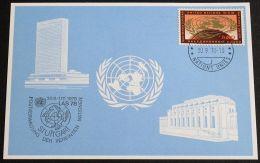 UNO GENF 1978 Mi-Nr. 69 Blaue Karte - Blue Card Mit Erinnerungsstempel STUTTGART - Briefe U. Dokumente