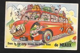 Meaux - Seine Et Marne - Carte Postale à Système Humour Illustrateur - Meaux