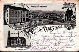! Alte Litho Ansichtskarte Groet Uit Vaals, Holland, Vierländerpunkt, Lith. C. Pfannkuch, Siegburg, Feldpost 1914 - Vaals