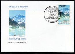 New Zealand Wine Post Mount Coo/Aoraki FDC Cover - New Zealand
