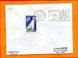 NORD, Cambrai, Flamme SCOTEM N° 2849, Ville D'histoire, Mouchoirs Et Batistes Fins - Marcofilie (Brieven)