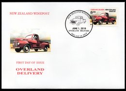 New Zealand Wine Post Overland Delivery FDC Cover - Unclassified