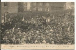 CARIGNAN....ARDENNES....Souvenir Inauguration Monument Aux Morts Guerre 1914-18.... - France