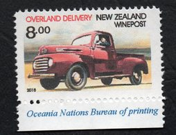 New Zealand Wine Post Overland Delivery Single With Perforation Flaw. - Unclassified