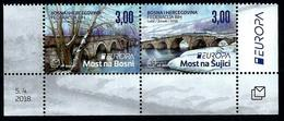 Bosnia And Herzegovina (Mostar) 2018: Europa-CEPT;  Bridges ** MNH - 2018