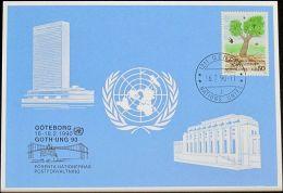 UNO GENF 1990 Mi-Nr. 201 Blaue Karte - Blue Card - Genf - Büro Der Vereinten Nationen