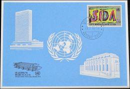 UNO GENF 1990 Mi-Nr. 203 Blaue Karte - Blue Card - Briefe U. Dokumente