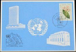UNO GENF 1990 Mi-Nr. 204 Blaue Karte - Blue Card - Genf - Büro Der Vereinten Nationen