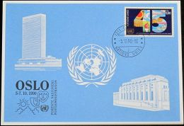 UNO GENF 1990 Mi-Nr. 207 Blaue Karte - Blue Card - Genf - Büro Der Vereinten Nationen