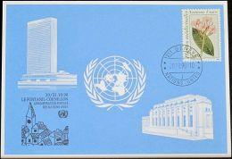 UNO GENF 1990 Mi-Nr. 208 Blaue Karte - Blue Card - Briefe U. Dokumente