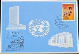 UNO GENF 1990 Mi-Nr. 209 Blaue Karte - Blue Card - Briefe U. Dokumente