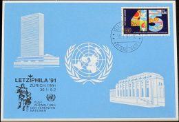 UNO GENF 1991 Mi-Nr. 212 Blaue Karte - Blue Card - Genf - Büro Der Vereinten Nationen