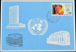 UNO GENF 1991 Mi-Nr. 213 Blaue Karte - Blue Card - Genf - Büro Der Vereinten Nationen