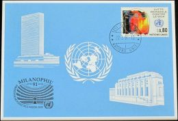UNO GENF 1991 Mi-Nr. 213 Blaue Karte - Blue Card - Briefe U. Dokumente