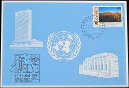 UNO GENF 1991 Mi-Nr. 216 Blaue Karte - Blue Card - Genf - Büro Der Vereinten Nationen
