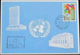UNO GENF 1991 Mi-Nr. 217 Blaue Karte - Blue Card - Genf - Büro Der Vereinten Nationen