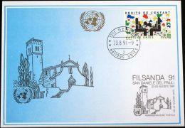 UNO GENF 1991 Mi-Nr. 220 Blaue Karte - Blue Card - Briefe U. Dokumente