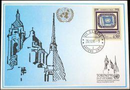 UNO GENF 1991 Mi-Nr. 222 Blaue Karte - Blue Card - Genf - Büro Der Vereinten Nationen