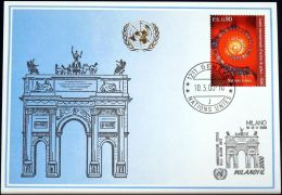 UNO GENF 2000 Mi-Nr. 307 Blaue Karte - Blue Card - Briefe U. Dokumente